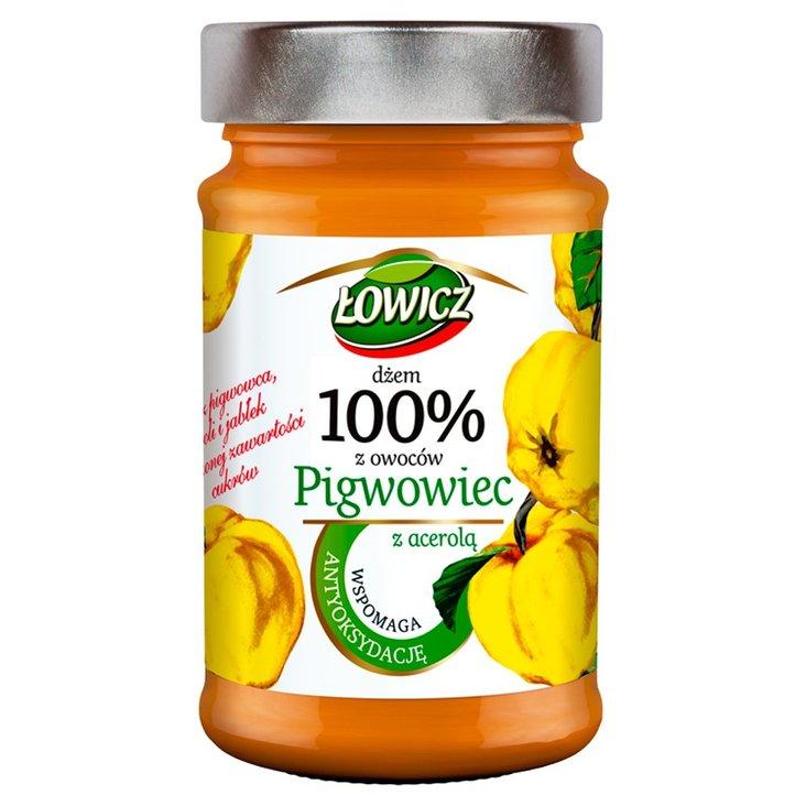 Łowicz Dżem 100% z owoców pigwowiec z acerolą 235 g (1)