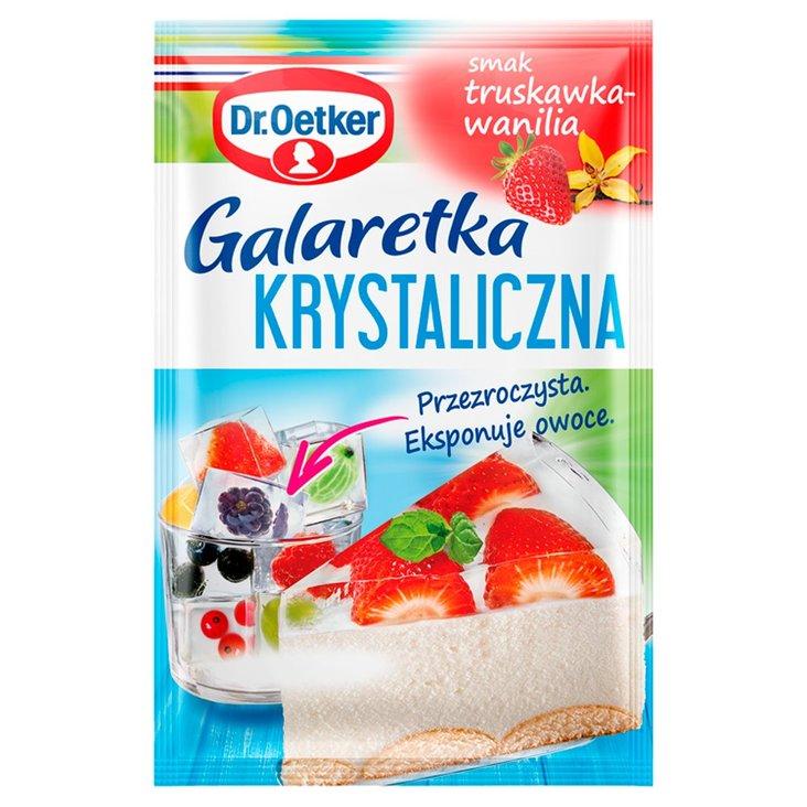 Dr. Oetker Galaretka krystaliczna smak truskawka-wanilia 77 g (1)