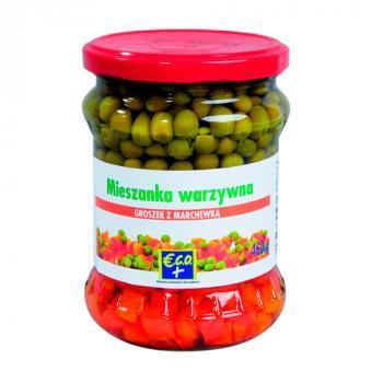 €.C.O.+  Mieszanka warzywna groszek z marchewką 460g (1)