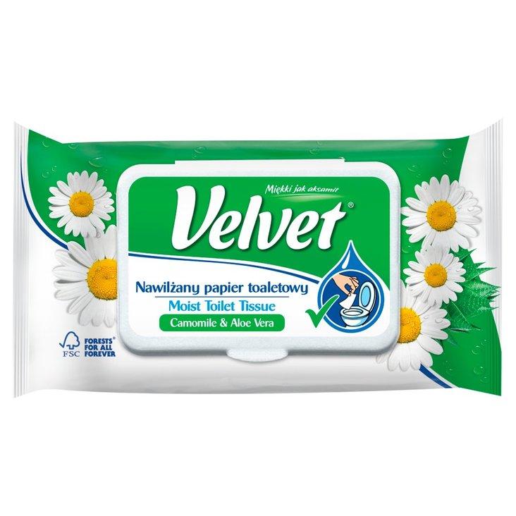 Velvet Camomile & Aloe Vera Nawilżany papier toaletowy 42 sztuki (3)