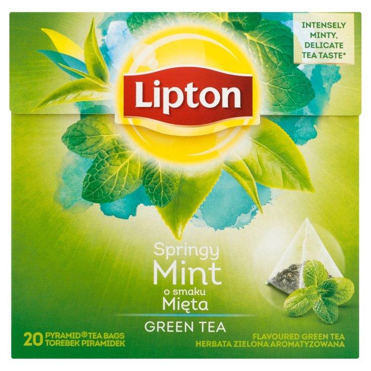 Lipton o smaku Mięta Herbata zielona aromatyzowana 32 g (20 torebek) (2)