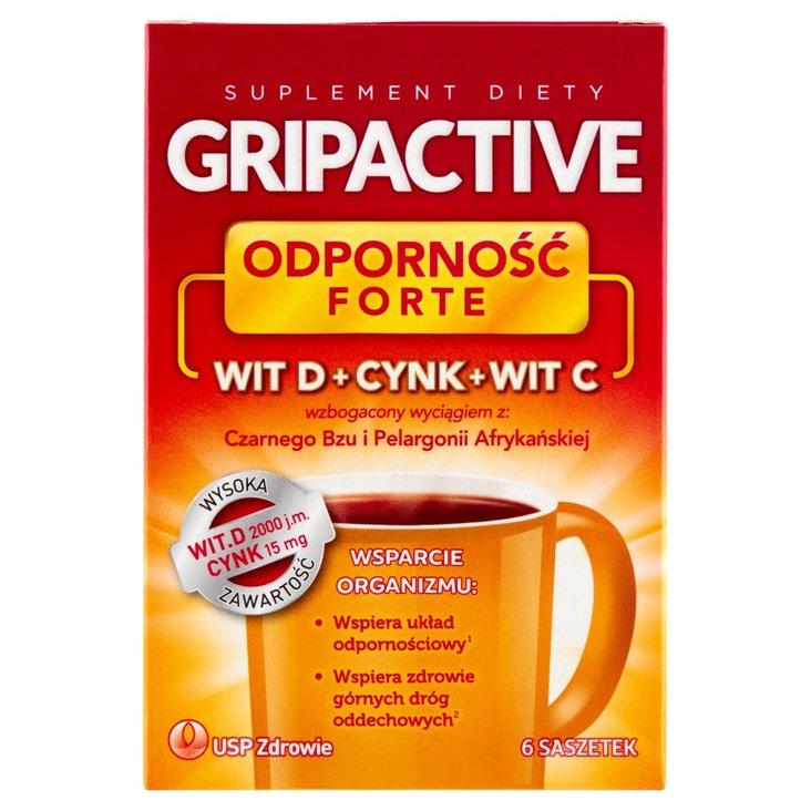 Gripactive Odporność Forte Suplement diety 18 g (6 x 3 g) (2)