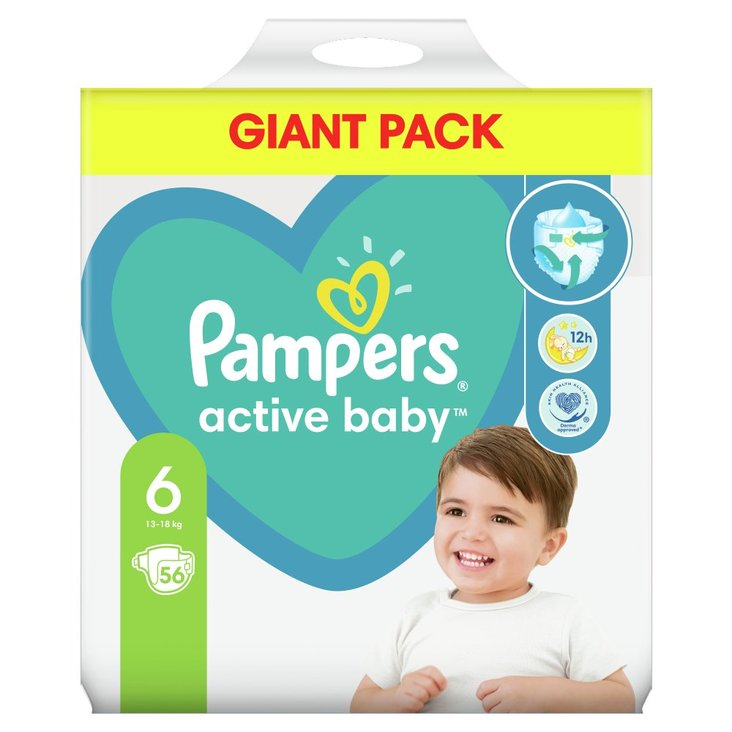 Pampers Active Baby, rozmiar6, 56pieluszek, 13kg-18kg (1)
