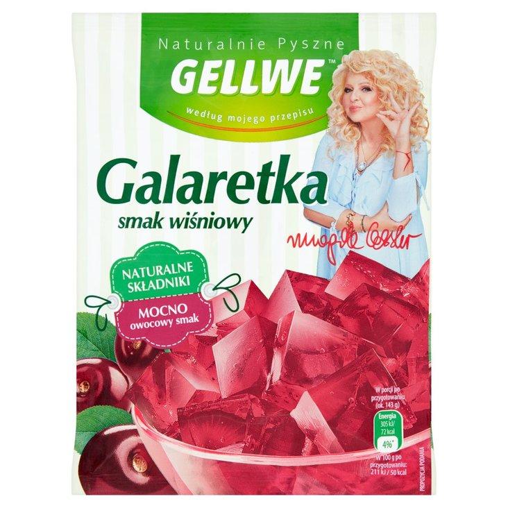 Gellwe Naturalnie Pyszne Galaretka smak wiśniowy 75 g (1)