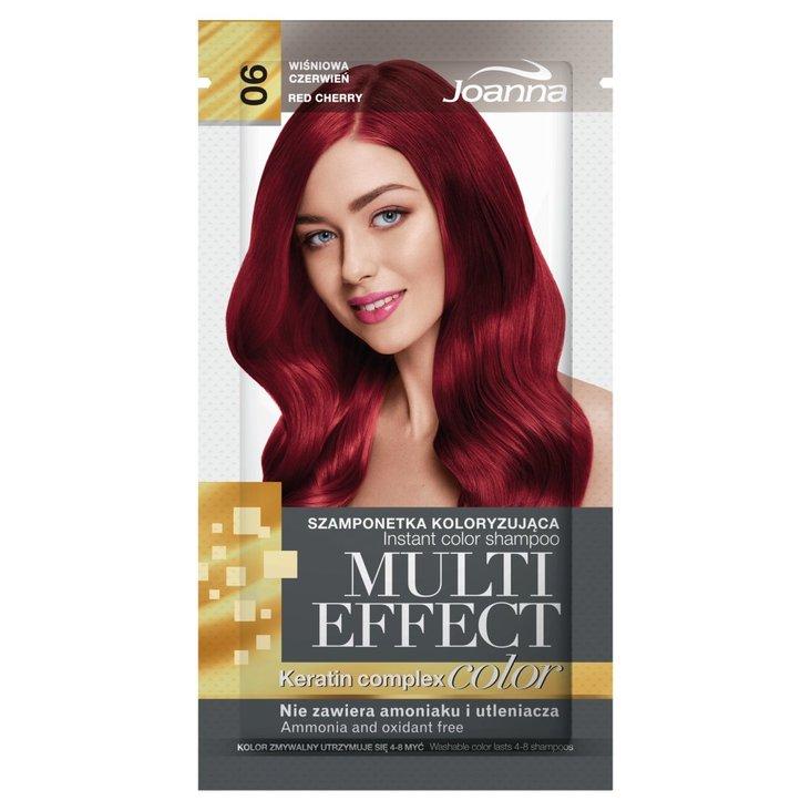 Joanna Multi Effect color Szamponetka koloryzująca wiśniowa czerwień 06 35 g (1)
