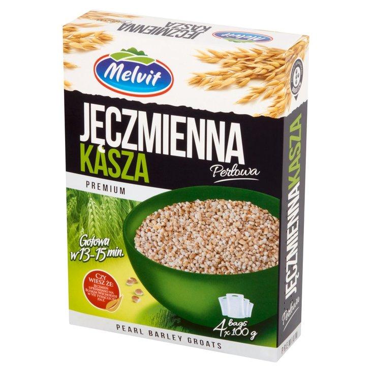 Melvit Premium Kasza jęczmienna perłowa 400 g (4 torebki) (1)