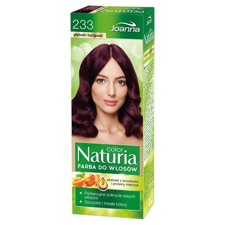Joanna Naturia color Farba do włosów głęboki burgund 233 (1)