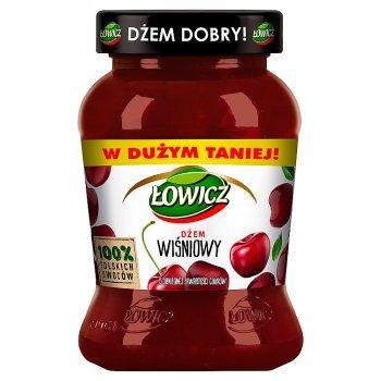 Łowicz Dżem wiśniowy o obniżonej zawartości cukrów 450 g (1)