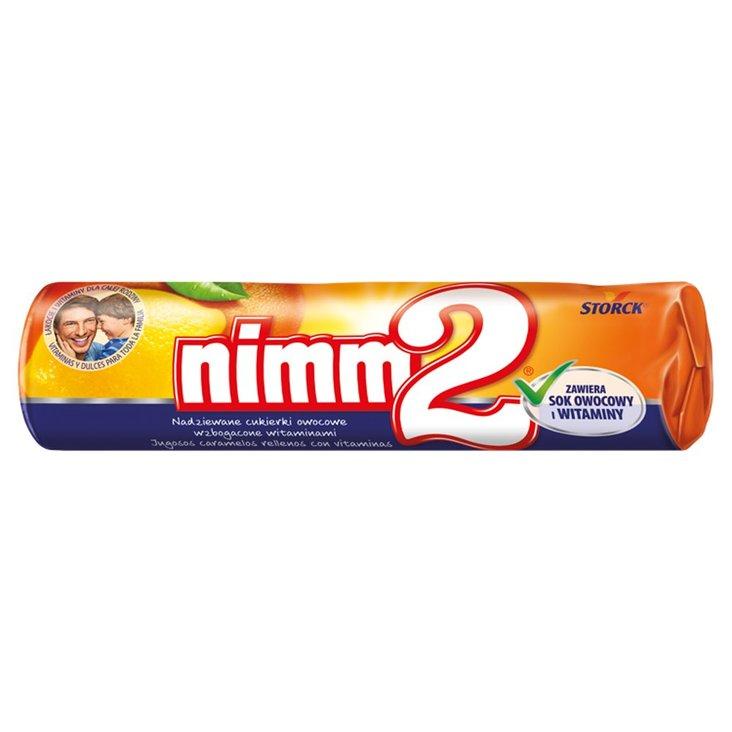 nimm2 Nadziewane cukierki owocowe wzbogacone witaminami 50 g (1)