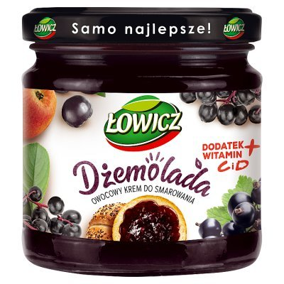 Łowicz Dżemolada Owocowy krem do smarowania czarny 200 g (1)