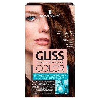 Schwarzkopf Gliss Color Farba do włosów orzechowy brąz 5-65 (1)
