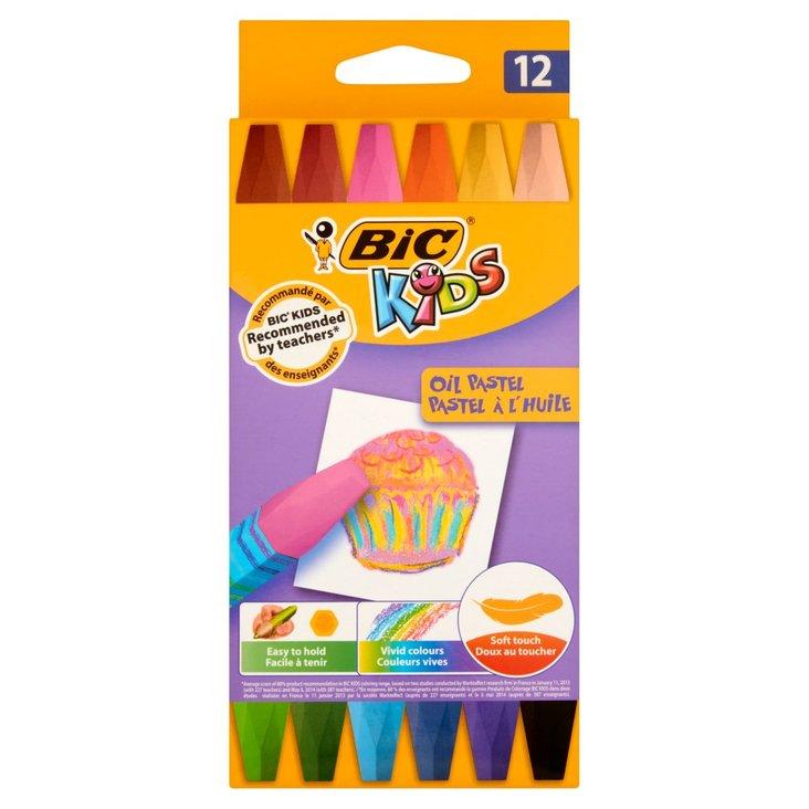BiC Kids Kreatywne pastele olejne 12 kolorów (1)