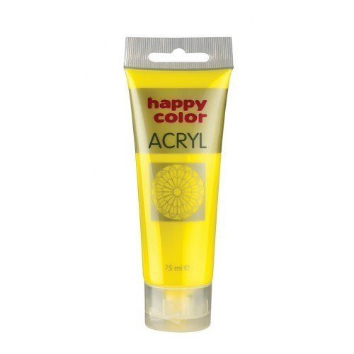 HAPPY COLOR Farba akrylowa cytrynowa 75ml (1)