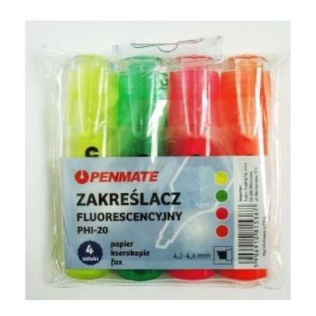 Penmate Zakreślacz fluorescencyjny 4 kolory (1)