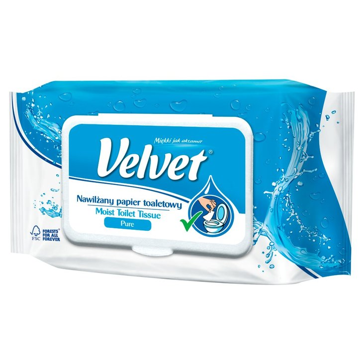 Velvet Pure Nawilżany papier toaletowy 42 sztuki (1)