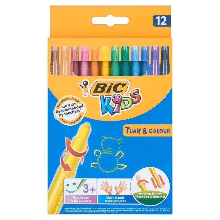 Bic Kids Turn and Colour Kredki świecowe wysuwane 12 kolorów (1)