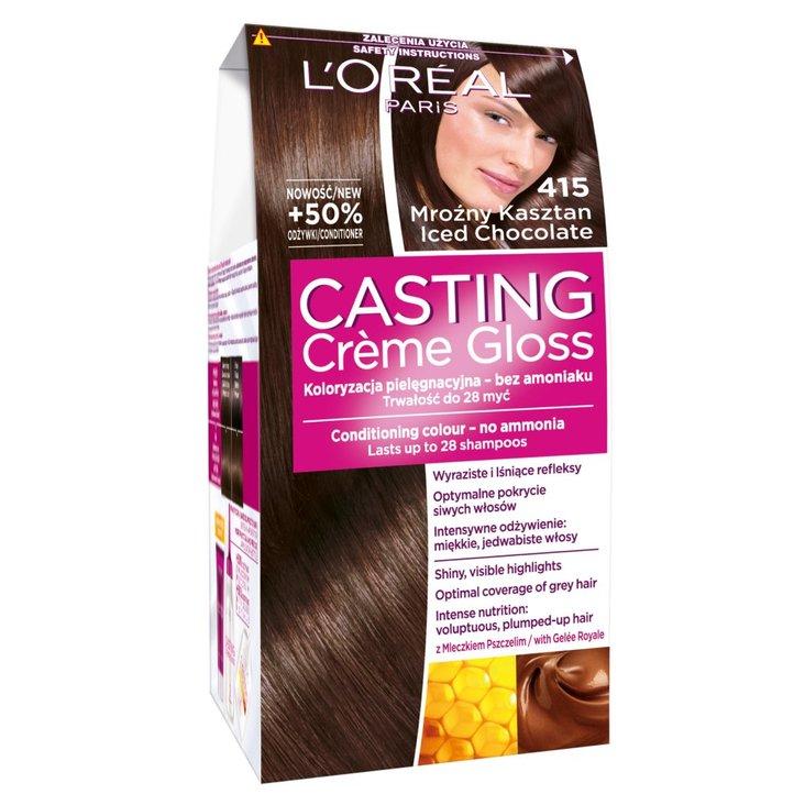L'Oreal Paris Casting Creme Gloss Farba do włosów 415 mroźny kasztan (1)