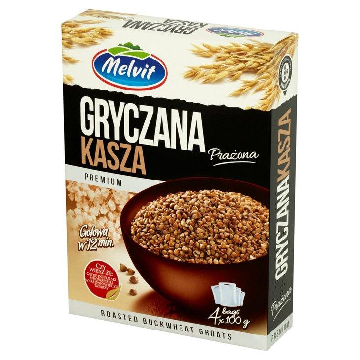 Melvit Premium Kasza gryczana prażona 400 g (4 torebki) (1)