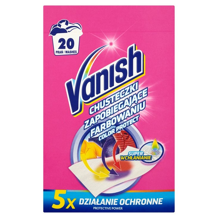 Vanish Color Protect Chusteczki zapobiegające farbowaniu 20 prań (10 sztuk) (2)