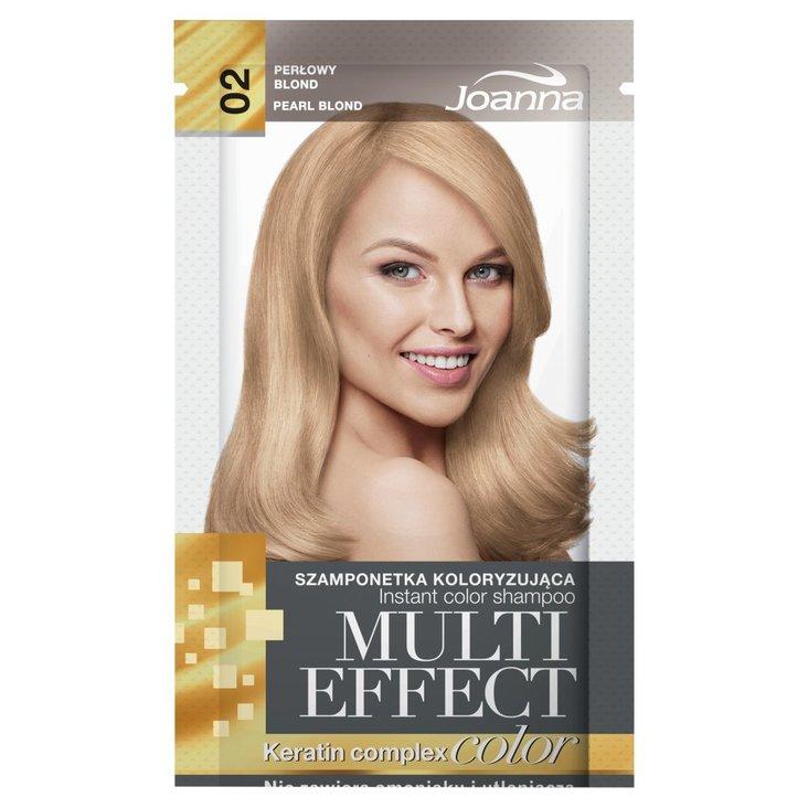 Joanna Multi Effect color Szamponetka koloryzująca perłowy blond 02 35 g (1)