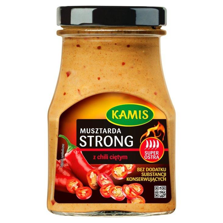 Kamis Musztarda strong z chili ciętym 185 g (1)