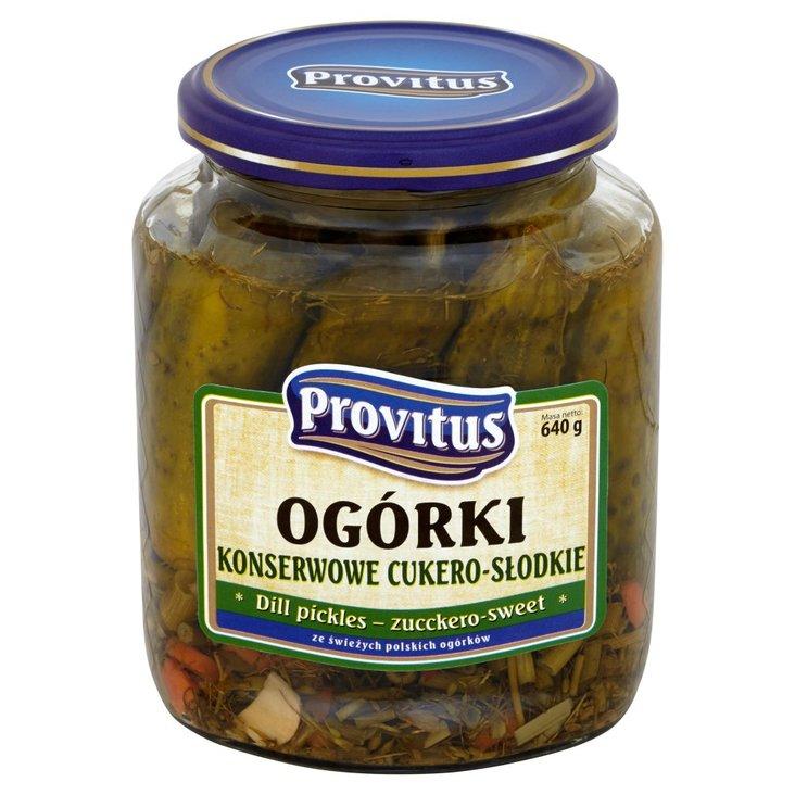 Provitus Ogórki konserwowe cukero słodkie 640 g (1)