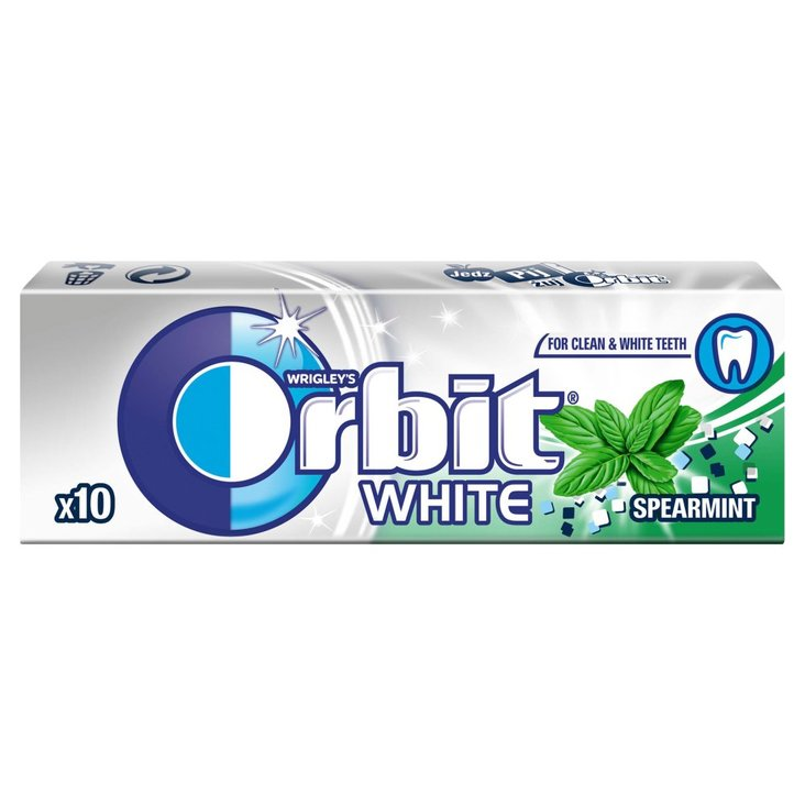 Orbit White Spearmint Guma do żucia bez cukru 14 g (10 drażetek) (1)