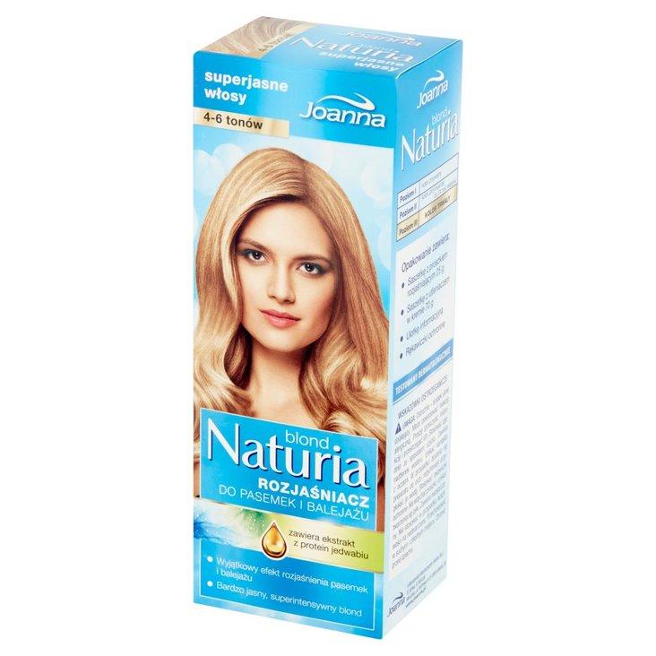 Joanna Naturia blond Rozjaśniacz do pasemek i balejażu 4-6 tonów (1)