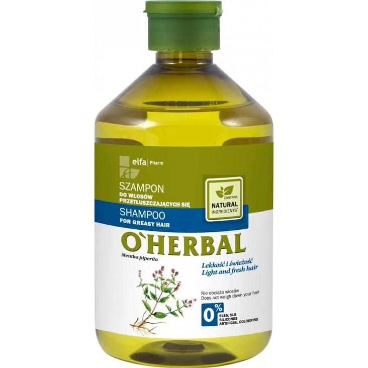 O'HERBAL  Szampon do włosów przetłuszczających 500 ml (1)