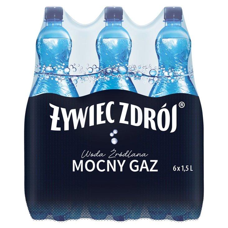 Żywiec Zdrój Mocny Gaz Woda źródlana 6 x 1,5 l (1)