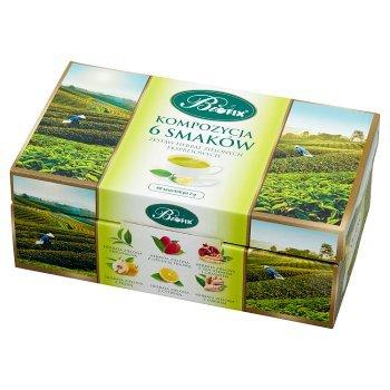 Bifix Zestaw herbat zielonych ekspresowych kompozycja 6 smaków 120 g (60 x 2 g) (1)