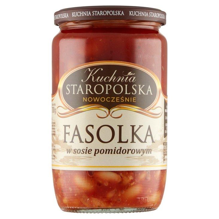Kuchnia Staropolska Fasolka w sosie pomidorowym 700 g (2)