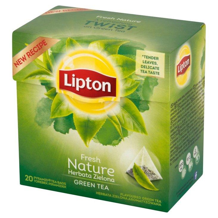 Lipton Fresh Nature Herbata zielona aromatyzowana 28 g (20 torebek) (1)