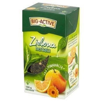 Big-Active Zielona herbata z pomarańczą liściasta 100 g (1)