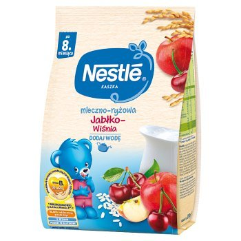 Nestlé Kaszka mleczno-ryżowa jabłko-wiśnia dla niemowląt po 8. miesiącu 230 g (1)