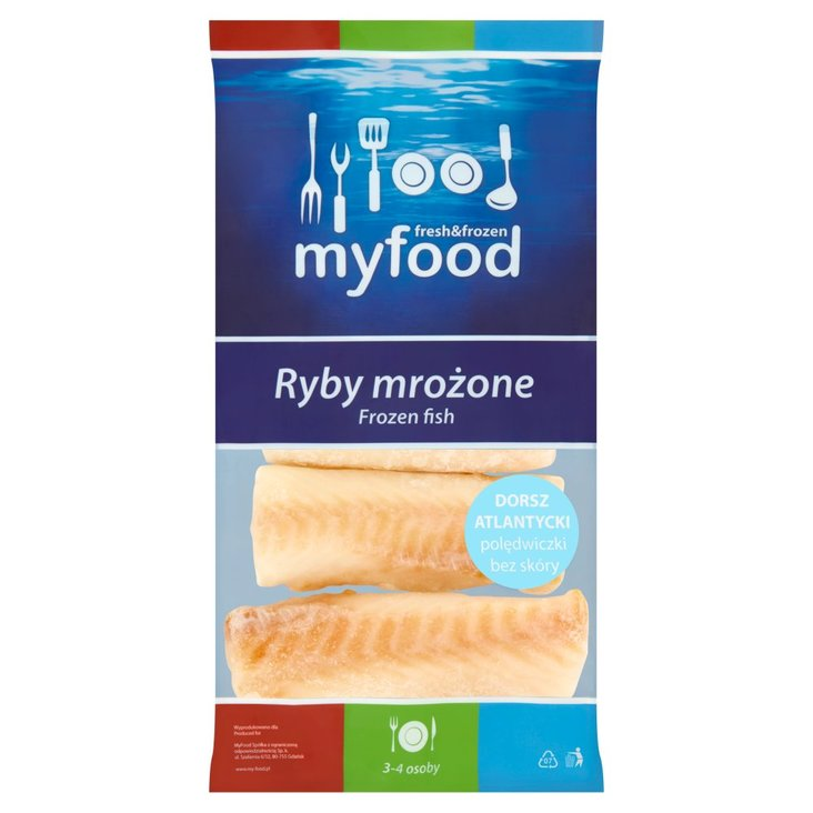 MyFood Ryby mrożone Dorsz atlantycki polędwiczki bez skóry 450 g (1)