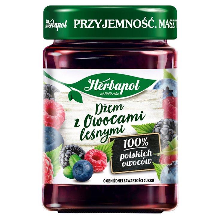 Herbapol Dżem z owocami leśnymi o obniżonej zawartości cukru 280 g (1)