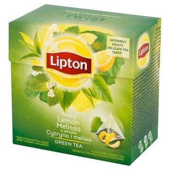 Lipton o smaku Cytryna i melisa Herbata zielona aromatyzowana 32 g (20 torebek) (1)