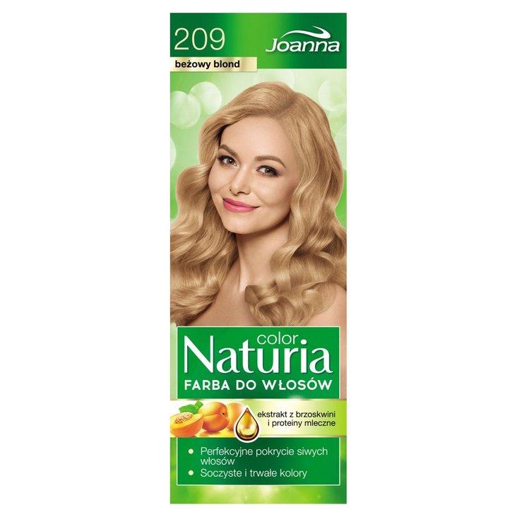 Joanna Naturia color Farba do włosów beżowy blond 209 (2)