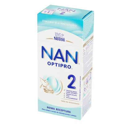 NAN OPTIPRO 2 Mleko następne w proszku dla niemowląt powyżej 6. miesiąca 350 g (1)