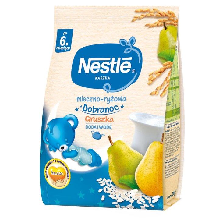 Nestlé Kaszka dobranoc mleczno-ryżowa gruszka dla niemowląt po 6. miesiącu 230 g (1)