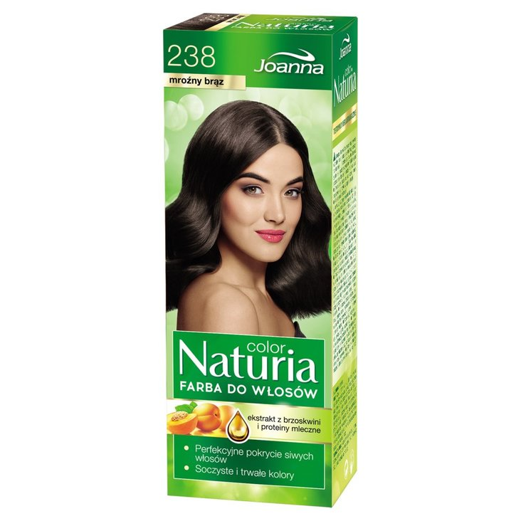 Joanna Naturia color Farba do włosów mroźny brąz 238 (1)