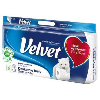 Velvet Delikatnie Biały Papier toaletowy 8 rolek (1)