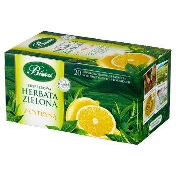 Bifix Herbata zielona ekspresowa z cytryną 40 g (20 x 2 g) (1)