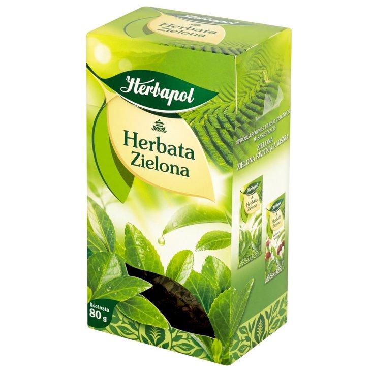 Herbapol Herbata zielona liściasta 80 g (1)