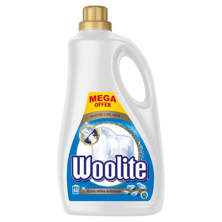 Woolite Płyn do prania do bieli i jasnych kolorów z keratyną 3,6 l (60 prań) (1)