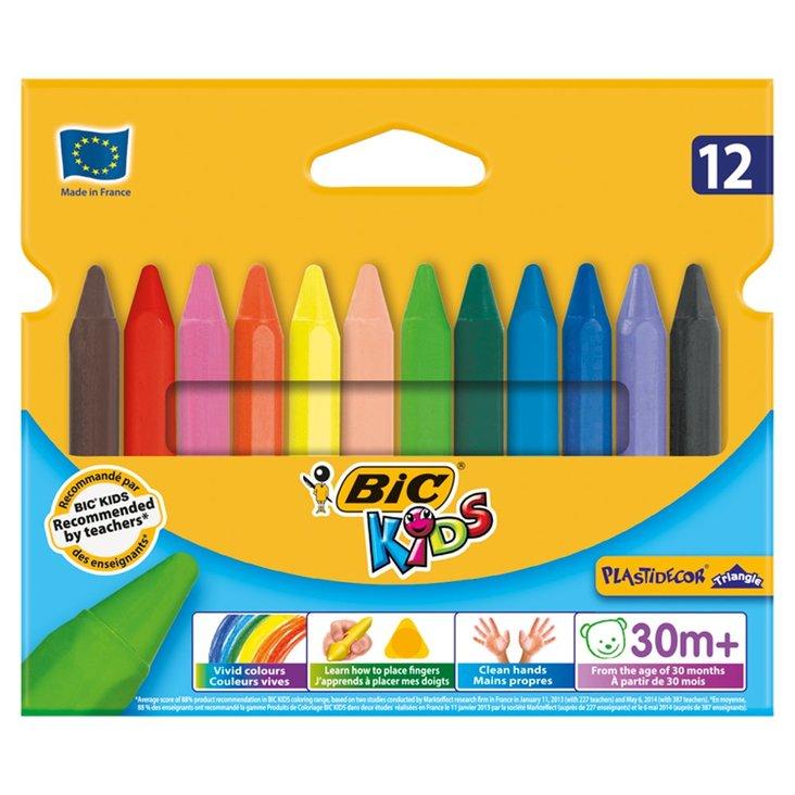 Bic Kids Plastidecor Triangle Trójkątne kredki świecowe 12 kolorów (1)