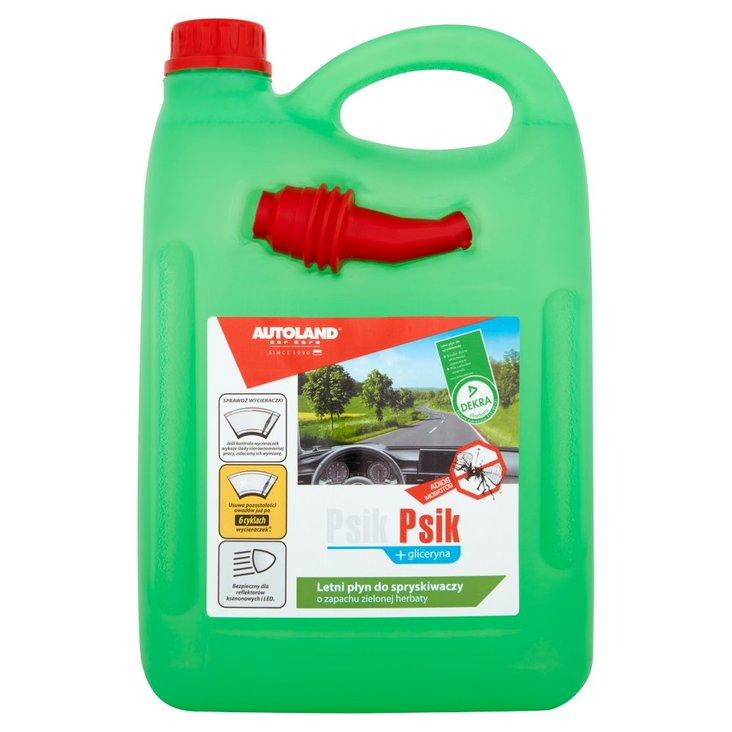 Autoland Car Care Psik Psik plus gliceryna Letni płyn do spryskiwaczy o zapachu zielonej herbaty 4 l (1)