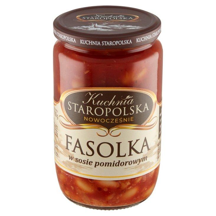 Kuchnia Staropolska Fasolka w sosie pomidorowym 700 g (1)