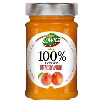 Łowicz Dżem 100% z owoców brzoskwinia 220 g (1)
